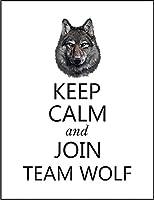 【FOX REPUBLIC】【KEEP CALM オオカミ】 白光沢紙(フレーム無し)A2サイズ