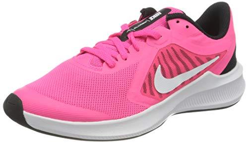 Nike Downshifter 10 (GS), Scarpe da Corsa, Hyper Pink/White-Black, 38.5 EU