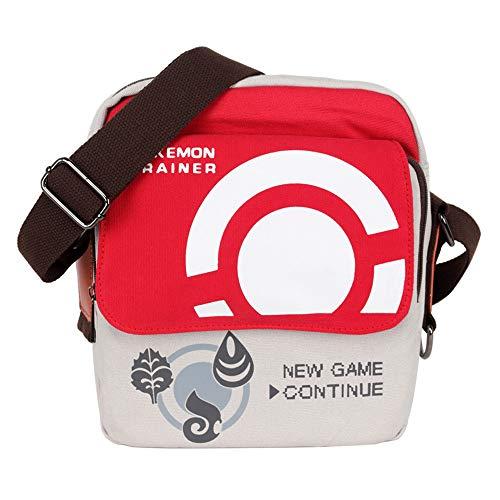 Veediyin Canvas Crossbody Purse Bag Travel Shoulder handbags Cosplay Bag (RED)