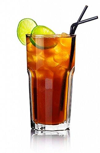 Sendez Lot de 6 verres à cocktail striés 330 ml