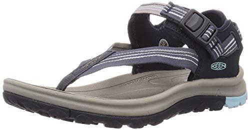 KEEN Women's Terradora 2 Toe Post Sport Sandal, Navy/Light Blue, 9