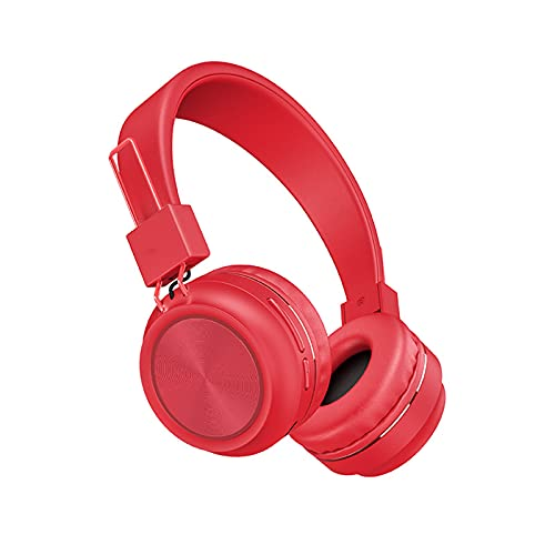SH-RuiDu Auriculares inalámbricos portátiles plegables sobre el oído Shock Bass auriculares para TV PC celular ordenador portátil