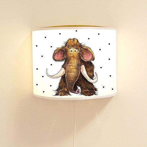 ilka parey wandtattoo-welt wandtattoo-welt® Lampe Murale pour Enfant Mammut Pino avec Pois Ls84