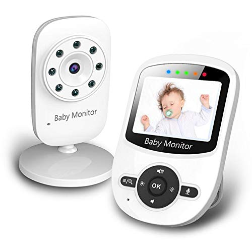 Newbaby 2.4 Video Baby Monitor with Digital Color Camera, Wireless View Video, Two-Way Talk, Lullabies, Infrared Night Vision, Temperature Monitoring, Feeding Alarm (SM24)