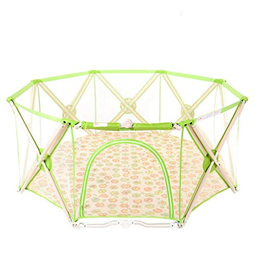 Why Should You Buy 176x176x75cm Green Portable Baby playpen,Designed for Parents Kids Activity Centr...