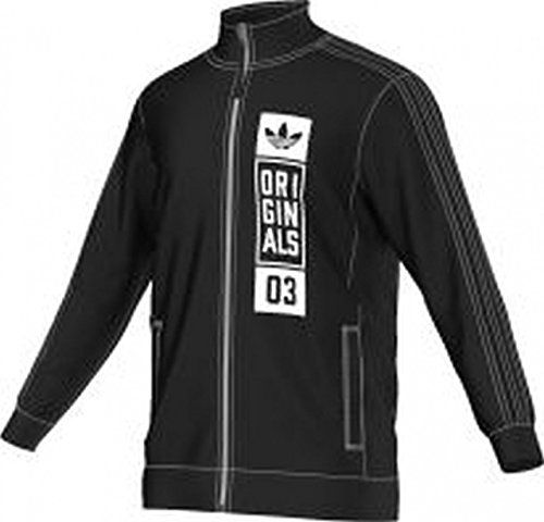 adidas Herren Trainingsanzug Street GRP TT Jacke, Schwarz, M