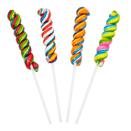 Rainbow Twisty Pops - 16 Pieces - Lollipop Party Favors
