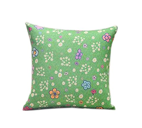 belle motif floral vert ameublement de maison oreiller / coussin