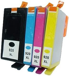 Juego de 4 HP 920 XL compatible cartuchos de tinta para impresora ...
