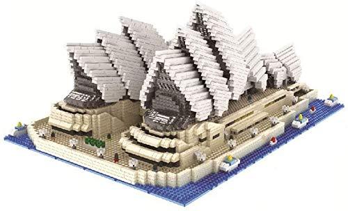 FJJF Bausteine 4131 Stück Nano Mini-Blöcke Miniaturdiamanten Kleine Partikel DIY Spielzeug Sydney Opera House