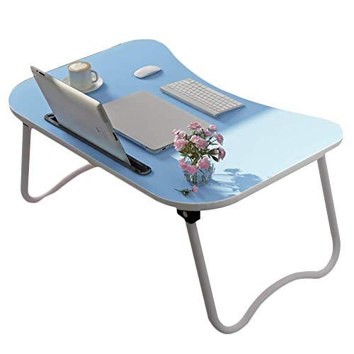 HCYTPL Opvouwbare tafelopvouwbare lap-bureau met tablet en telefoon slots Perfect voor het kijken naar film op bed of als persoonlijke eettafel