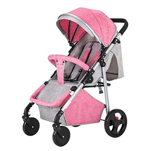 Find Cheap Tbagem-Yjr Folding Light Baby Car Trolley Baby Strollerr, Ultralight Pushchair High Lands...
