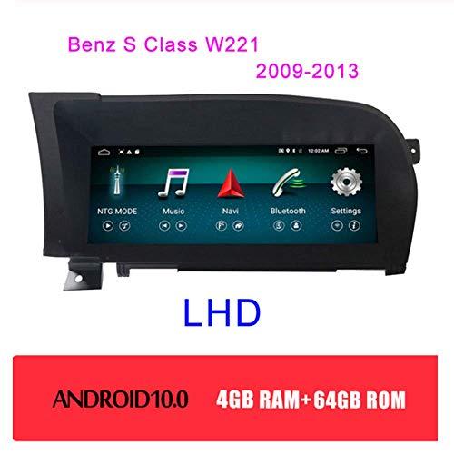 Tlyd 10.25 Zollandroid 10.0 Auto DVD Player Mit 4G / WiFi/Bluetooth/Lenkrad-Steuerfunktion GPS-Navigationssystem Für Benz S-Klasse W221 W216 2005-2013,4+64gb,LHD