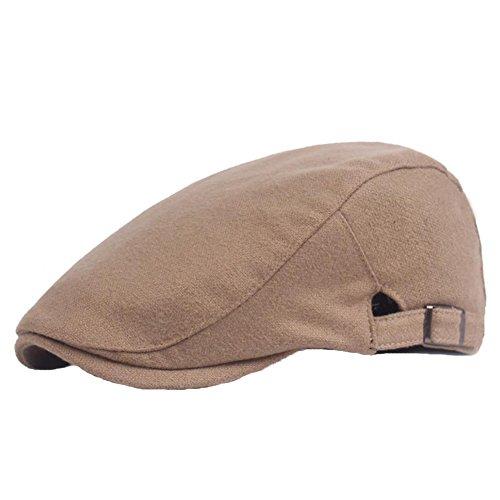 Dosige muts van katoen, voor heren, hoed buiten, halve muts en in het dagelijks leven, maat 54 – 59 cm (lichtbruin)