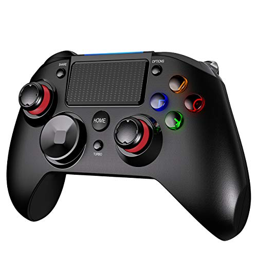 PICTEK PS4 Controller, 3-in-1 Wireless Gaming Controller with Vibration Turbo and Trigger Buttons, USB Controller Joystick Gamepad for Playstation 4, PS3, Windows, Android. 2020 New Version