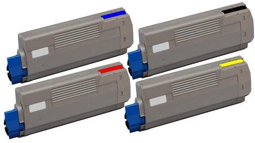 4X Kompatible Eurotone Toner im Set für Oki C610 CDN/ C610 DN/ C610 DTN/ C610 N - Premium Qualität