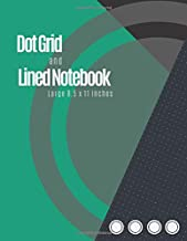 Dot Grid And Lined Notebook: Dotted Graph Notebooks (Emerald Green Cover) - Dot Grid Paper Large (8.5 x 11 inches), A4 100 Pages, Engineer Drawing & ... Dot Grid Journal Graphing Pad, Note Taking.
