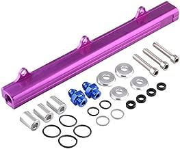 Gavita-Star - 1Pcs Aluminium Billet Fuel Rail Kit High Flow Injection Fuel Rail Kits For Honda B16A B18B B18C B16 DOHC EF EG EK VTEC