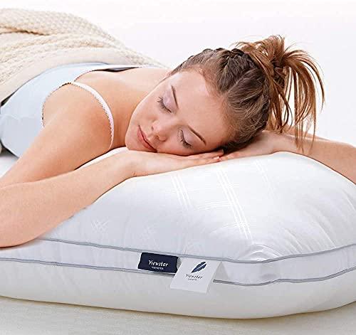 viewstar 2er Set Kopfkissen 80x80 cm, 1300 Gramm Mikrofaser Füllung, Fest & Stützend Schlafkissen Polster, Bett Kissen 80x80 für Allergiker Seitenschläfer Atmungsaktiv Weich Hochwertig Komfort