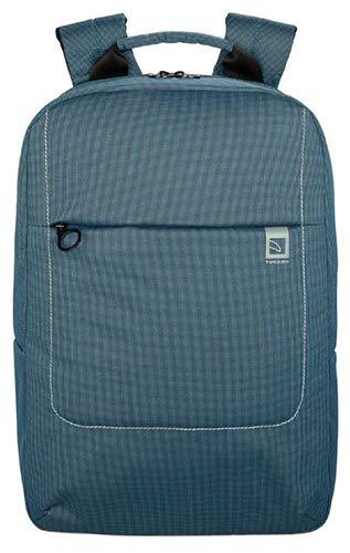 Tucano - Loop Sac à dos léger en tissu à deux tons pour ordinateur portable 15,6' et MacBook Pro 16'. Bretelles rembourrées et réglables, dossier ergonomique, poche avant extérieure, pratique pour le travail et les loisirs.