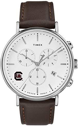 Timex MensSouth Carolina Gamecocks Watch Chronograph Leather Band Watch