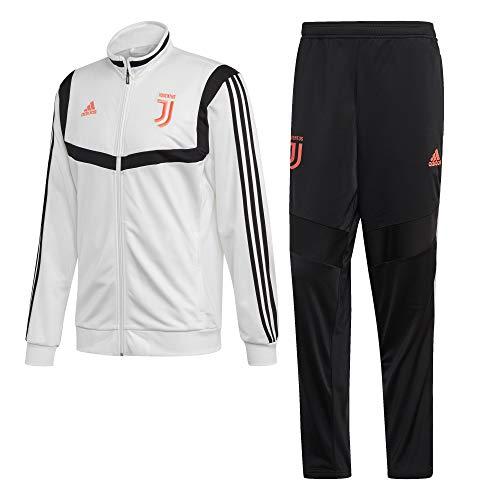 adidas Juventus Polyester, Trainingsanzug für Herren XL weiß/schwarz