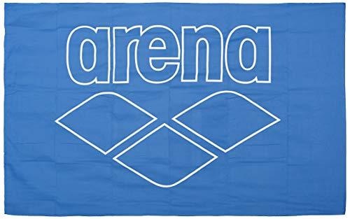 ARENA Unisex – Erwachsene Mikrofaser Handtuch Pool Smart, royal-White, 150x90cm