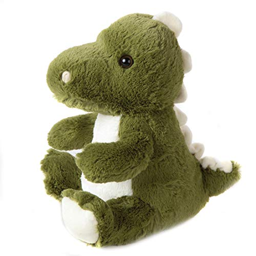 Lily's Home Cute Decorative Dinosaur Weighted Interior Door Stopper, Compact Soft Fabric Design