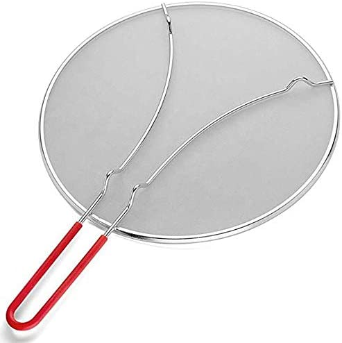 Grease Splatter Screen for Frying Pan 11 5 Splatter Guard with Silicone Handle Stops 99 Hot product image