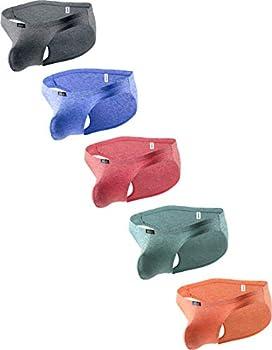 iKingsky Men s Pouch Bikini Underwear Sexy Low Rise Bulge Mens Briefs  Large 5 Pack