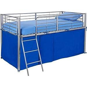 immagine di Tenda blu per letto a ponte, ideale per creare un'area giochi e come ripostiglio nella cameretta dei ragazzi