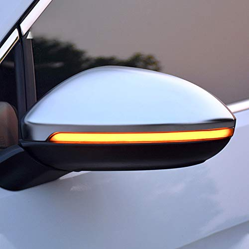 für Golf VII 7 / Golf Sportsvan 2014-2019 / Touran 2 2016-2019 Dynamische sequentielle Blink LED Seitenmarkierung Rückspiegel Blinkerleuchte