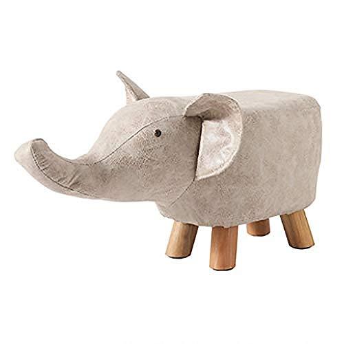 Hocker,Tierhocker FüR Kinder Tierform Gepolstertes Kissen 4 Holzbeine Mini-Möbel Fußschemel Creative Für Kinder Erwachsene,B