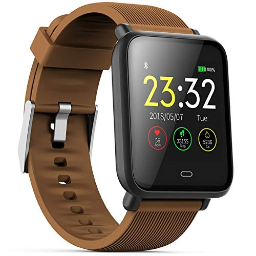 Multi-Dial Q9 Smartwatch IPX67 Waterproof Sports For Android IOS With Heart Rate Monitor Blood Pressure Functions Smart Watch Brown Universal