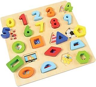 VIGA Block Puzzle - Shapes & Numbers