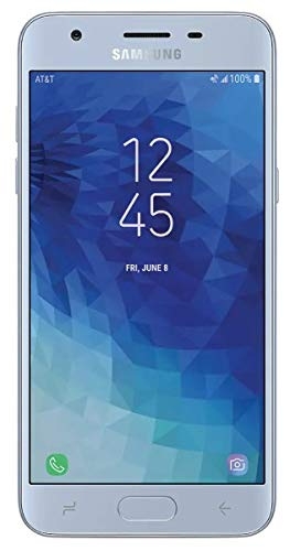 """Samsung Galaxy J3 2018 (16GB) J337A - 5.0"""" HD Display, Android 8.0, 4G LTE AT&T Unlocked GSM Smartphone (Silver)"""