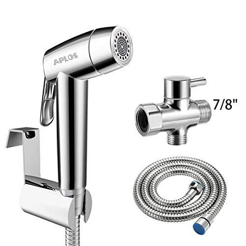 Handheld Bidet Toilet Sprayer,APLOS Shower Spray Attachment Set with Hose for Feminine Wash,Baby Cloth Diaper Washer,Stainless Steel Bathroom Bidet Sprayer for Pet,Easy to Install