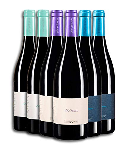 Vino Tinto - Leyenda del Páramo - Leyendas de Vida - Estuche con Vinos tintos premiados - Caja de 6 botellas de 75 cLitros(x2ud) APRENDIZ + (x2ud) MEDICO + (x2ud) MUSICO.