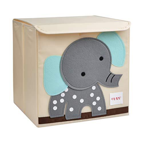 ATPWON Kinder Aufbewahrungsbox Spielzeugkiste mit Deckel Griffe für Kinderzimmer zur Aufbewahrung