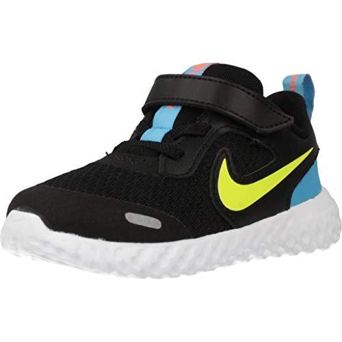 Nike Revolution 5 (TDV), Scarpe da Corsa, Black/Lemon Venom/Laser Blue, 19.5 EU