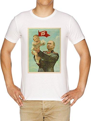 wowshirt T-Shirt Cheval Poutine et la Russie Trump Homme