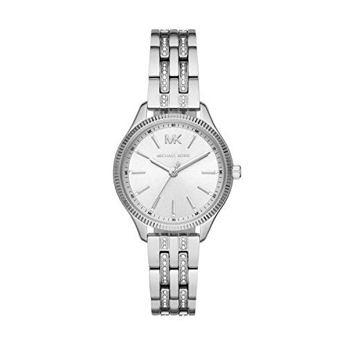 Michael Kors Damen Analog Quarz Uhr mit Edelstahl Armband MK6738