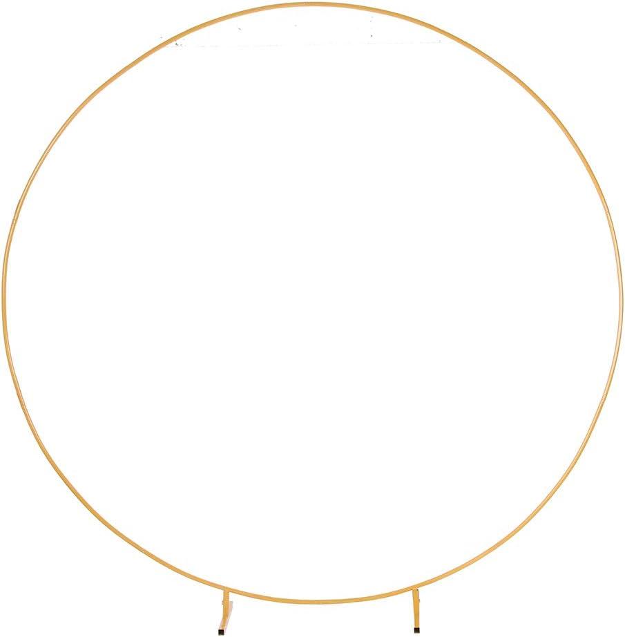 PILIN Kit de arco de globo redondo de metal dorado enorme Extraíble Fácil de transportar y reutilizable La mejor decoración para eventos de fiesta (∅2.2M/7.2FT)