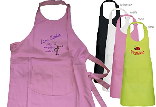 Kinder-Schürze,Kochschürze mit Motiv, Namen & Spruch Bestickt