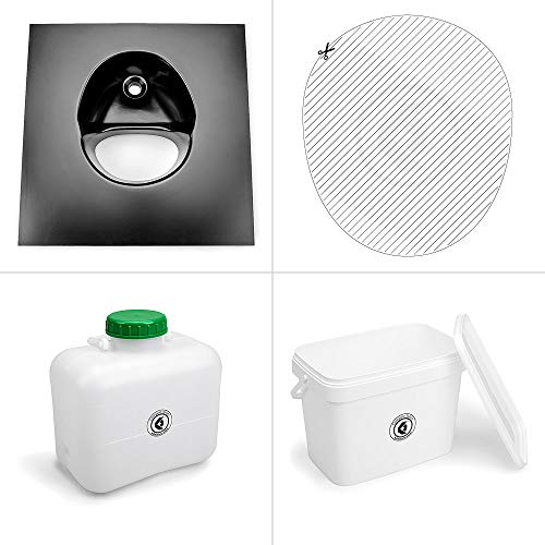 Kildwick - Inodoro para compost (sin carcasa), Negro, Kompakt
