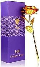 Lavanaya Silver - Certified 24 Kt Golden Rose 10 Inch Gift Box
