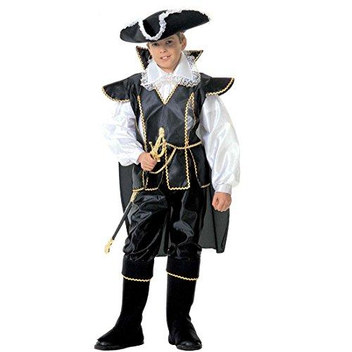 Déguisement de pirate pour enfant costume de mousquetaire 140 cm 9-11 ans Tenue de capitaine pirate habit pour enfant corsaire boucanier anniversaire flibustier soirée costumée déguisement de carnaval garçons