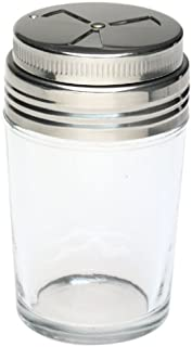 Norpro Shaker Cup Glass Adjustable Pizzeria Style Pepper/Salt/Cheese/Spice 5.25