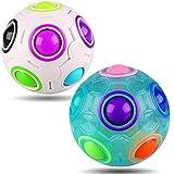 Matching Color Memory Game Fidget Rainbow Puzzle Ball Cube Magic Block Speed Race Stress Ball Bundle Relief Brain Teasers Thinking Development Sensor Toys Best Birthday Xmas Stocking Stuffers Gift