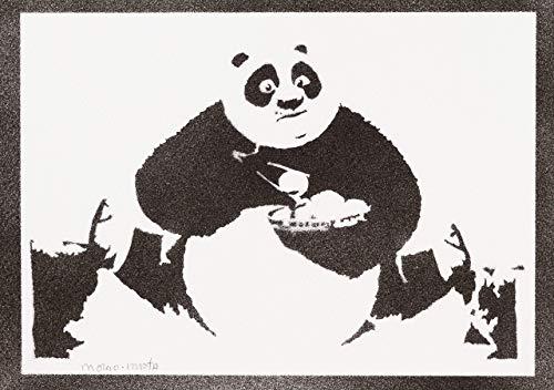 Kung Fu Panda Poster Plakat Handmade Graffiti Street Art - Artwork